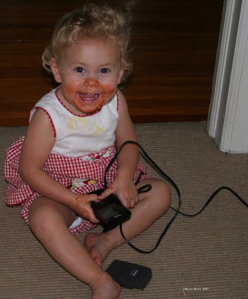 Hmmm...how did she get my flash cam?